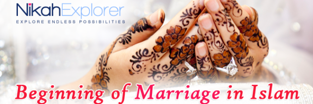 Beginning of marriage in Islam